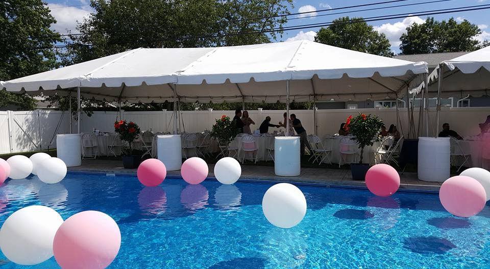 graduation party tent setup