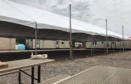 jumbotrac tent setup