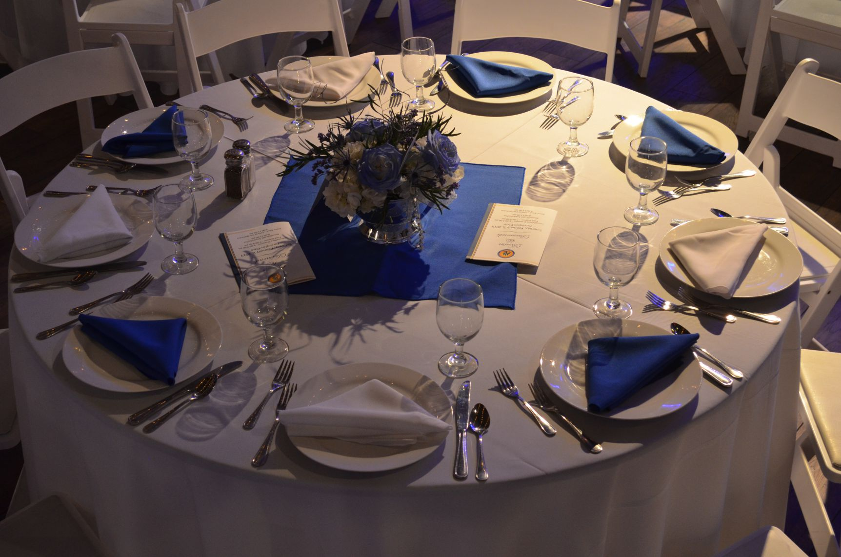 corporate event place setting