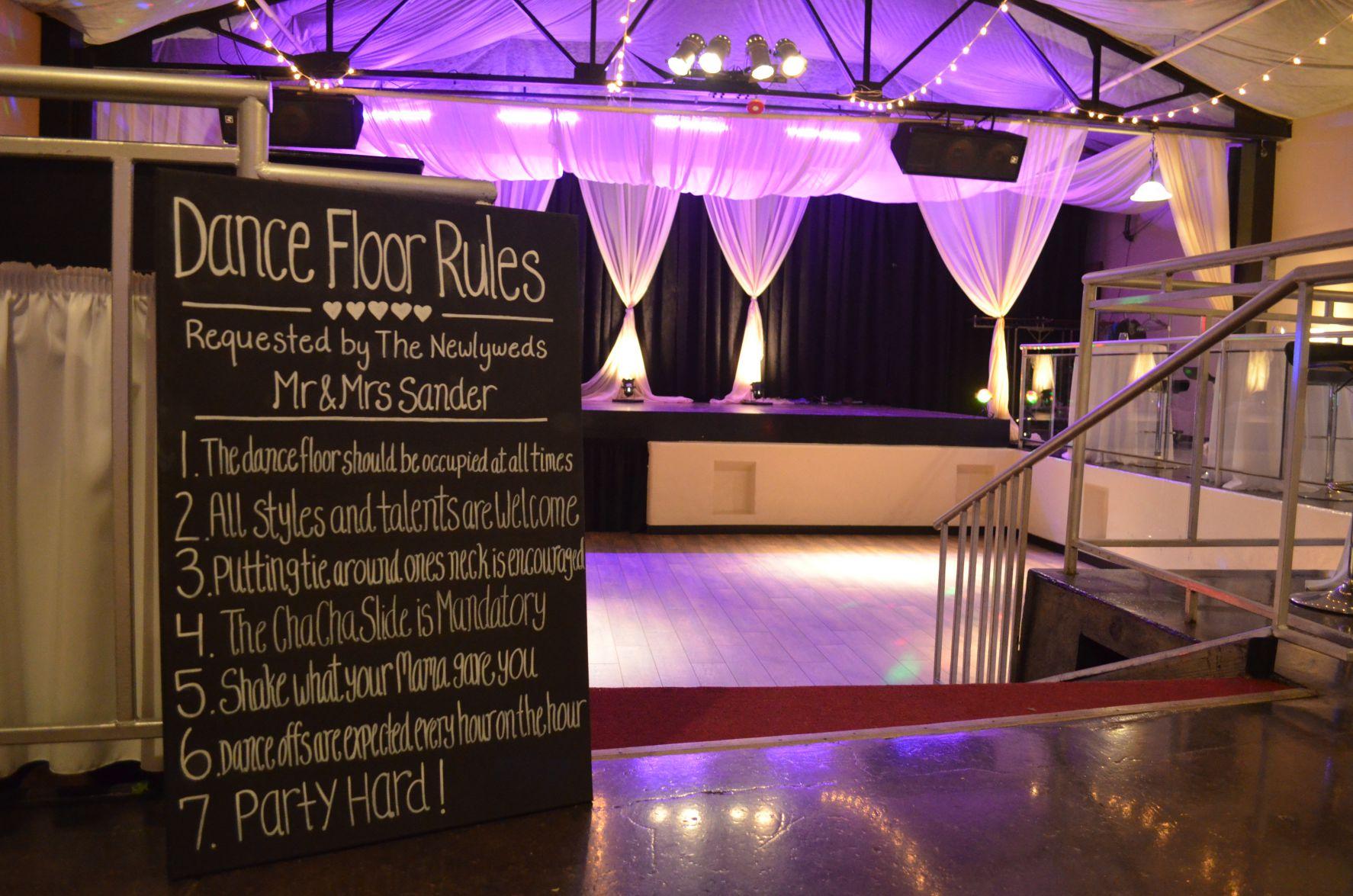 entertainment room dance floor