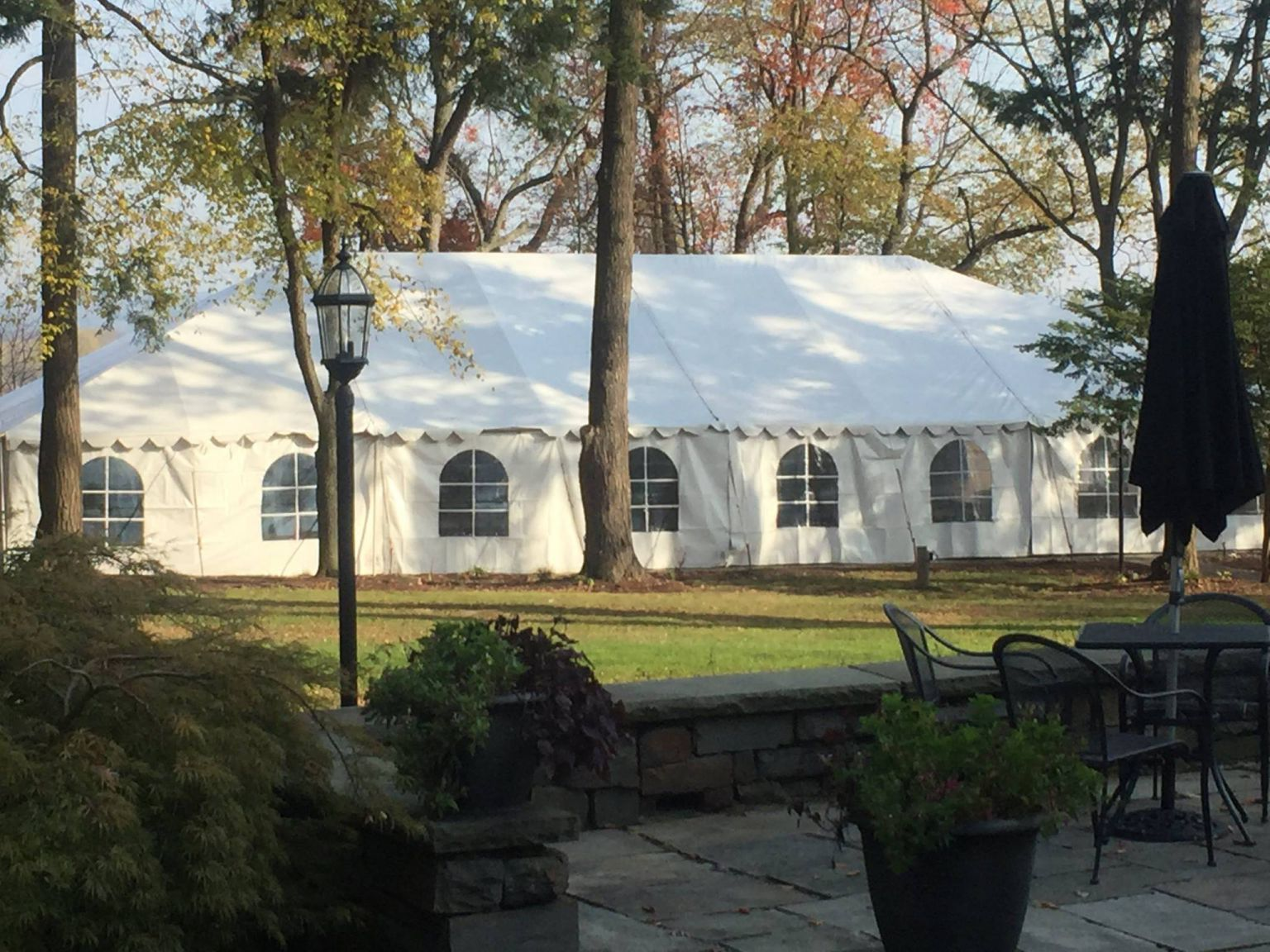 large tent with sides