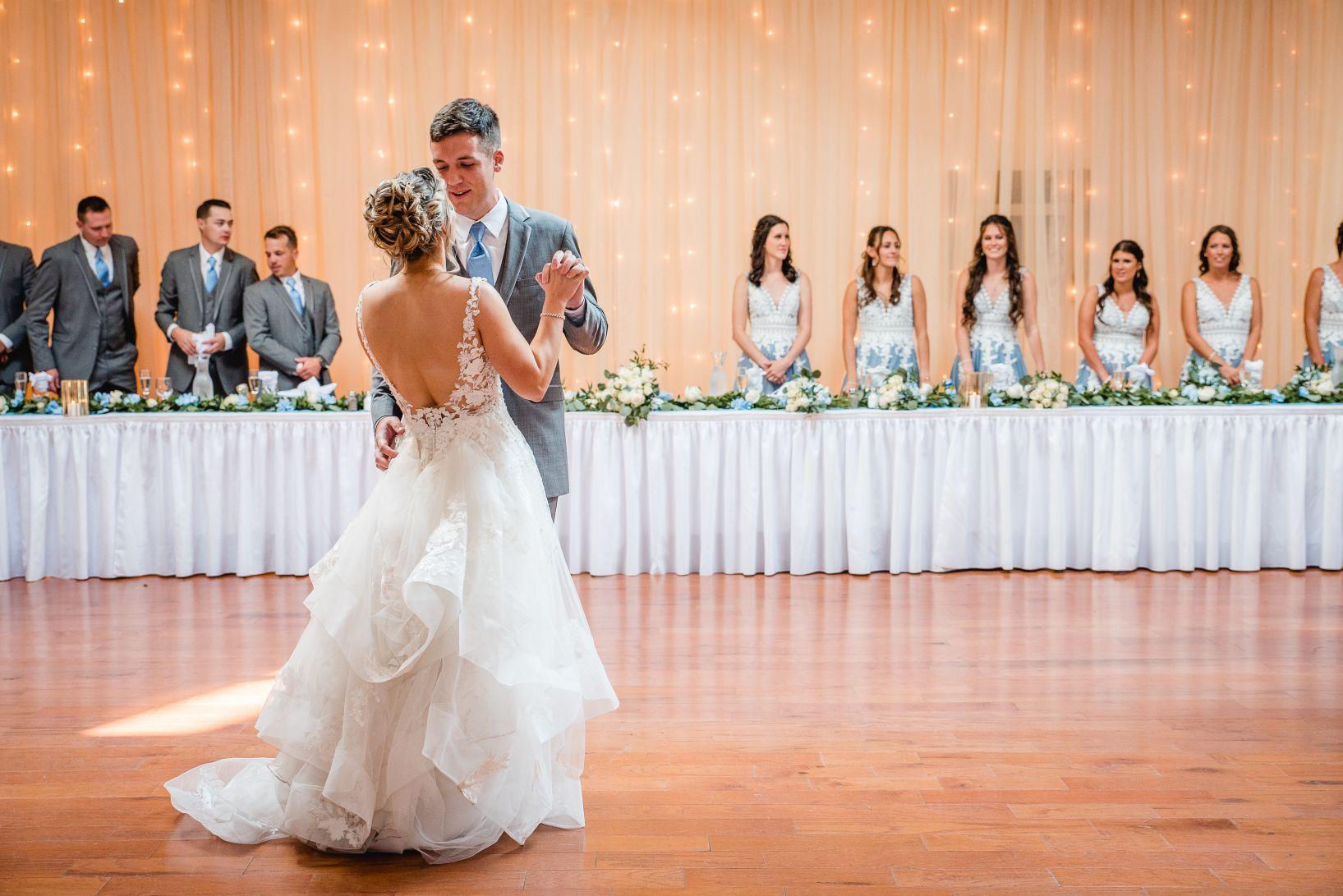 banquet room wedding dance
