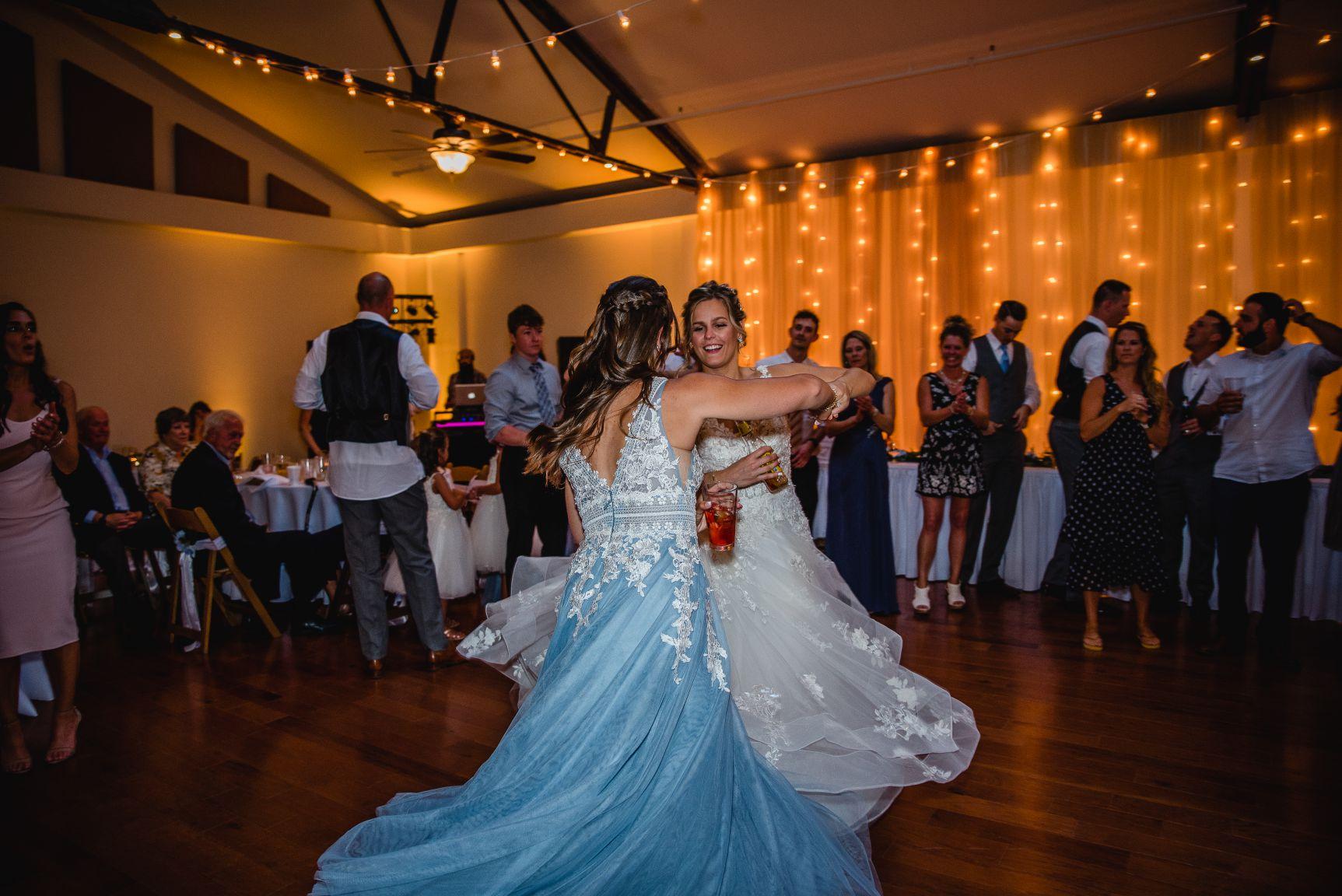 reception hall banquet room dancing